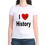 I Love History (Front) Jr. Ringer T-Shirt