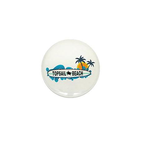 Topsail Beach NC - Surf Design Mini Button