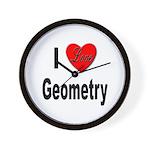 I Love Geometry Wall Clock