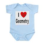 I Love Geometry Infant Creeper