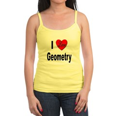 I Love Geometry Jr. Spaghetti Tank