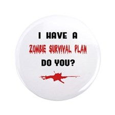 "Zombie Plan 3.5"" Button (100 pack)"