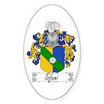Tofani Family Crest Oval Sticker