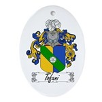 Tofani Family Crest Oval Ornament