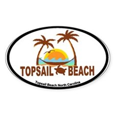Topsail Beach - Palm Trees Design Decal