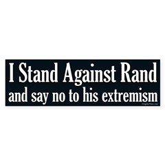 I Stand Against Rand Paul bumper sticker