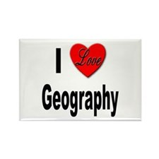 I Love Geography Rectangle Magnet