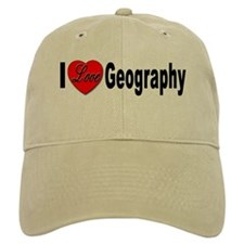 I Love Geography Baseball Cap