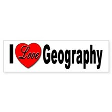 I Love Geography Bumper Bumper Sticker