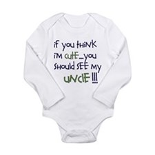 Uncle Long Sleeve Infant Bodysuit