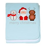 Merry Christmas Characters Infant Blanket
