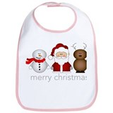 Merry Christmas Characters Bib