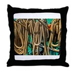 USS Constitution - Ropes for Throw Pillow