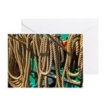 USS Constitution - Ropes for Greeting Card