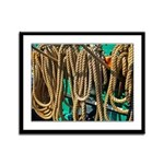 USS Constitution - Ropes for Framed Panel Print