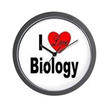 I Love Biology Wall Clock
