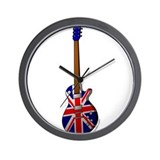 Cute Vintage guitar Wall Clock