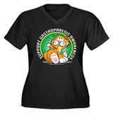 Gastroparesis Cat Women's Plus Size V-Neck Dark T-