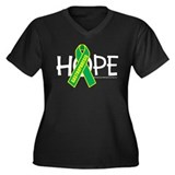 Gastroparesis Hope Women's Plus Size V-Neck Dark T