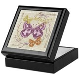 Vintage Butterflies Keepsake Box