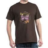 Vintage Butterflies Black T-Shirt