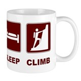 eat sleep climb Small Mug