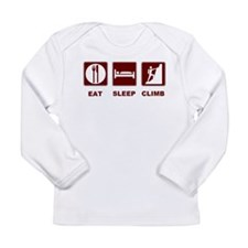 eat sleep climb Long Sleeve Infant T-Shirt