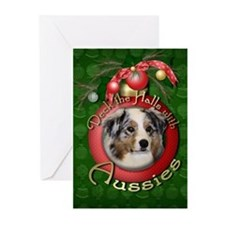 Christmas - Deck the Halls - Aussies Greeting Card