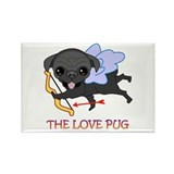 THE LOVE PUG Rectangle Magnet (10 pack)