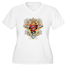 Skin Cancer Cross and Heart T-Shirt