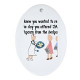 Retired Nurse Story Art Ornament (Oval)