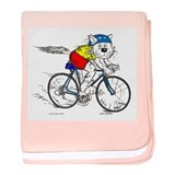Bicycle Cat Infant Blanket