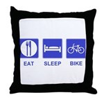 Eat Sleep Bike Throw Pillow