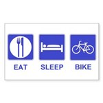 Eat Sleep Bike Sticker (Rectangle)