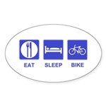 Eat Sleep Bike Sticker (Oval 50 pk)
