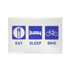 Eat Sleep Bike Rectangle Magnet (10 pack)
