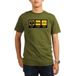Eat Sleep Bike Organic Men's T-Shirt (dark)