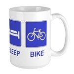 Eat Sleep Bike Large Mug
