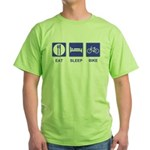 Eat Sleep Bike Green T-Shirt