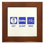 Eat Sleep Bike Framed Tile