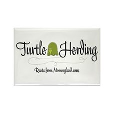 Turtle Herder Rectangle Magnet