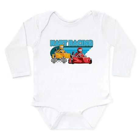 Kart Racing Long Sleeve Infant Bodysuit