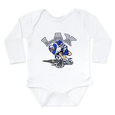 Cute College lacrosse Long Sleeve Infant Bodysuit