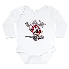 Unique College lacrosse Long Sleeve Infant Bodysuit