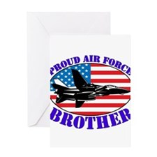 proudairforcebrother Greeting Cards