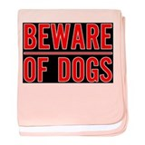 Beware of Dogs(Black) Infant Blanket