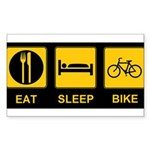 Eat Sleep Bike Sticker (Rectangle 10 pk)