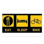 Eat Sleep Bike Postcards (Package of 8)