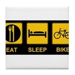 Eat Sleep Bike Tile Coaster