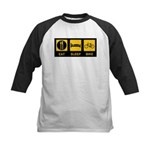Eat Sleep Bike Kids Baseball Jersey